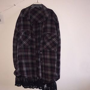 Lace flannel